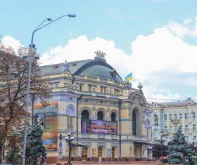 krainian capital Kiev cityscape Stock Photo 05
