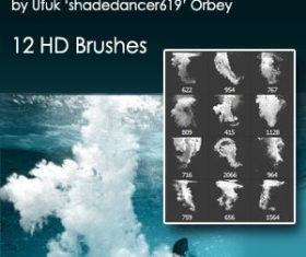 Underwater Splash Photoshop Brushes