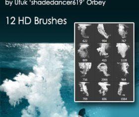 Underwater Splash Photoshop Brushes