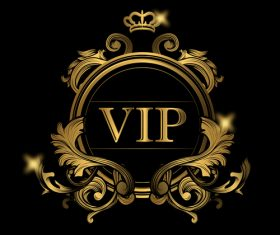 VIP golden labels luxury vector