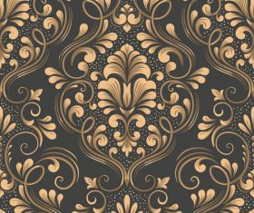 Vector damask seamless pattern element 02