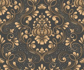 Vector damask seamless pattern element 03