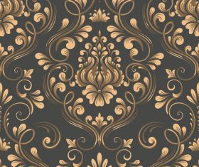 Vector damask seamless pattern element 04