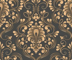 Vector damask seamless pattern element 05