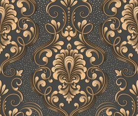 Vector damask seamless pattern element 06