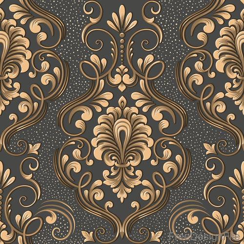 Vector damask seamless pattern element 06