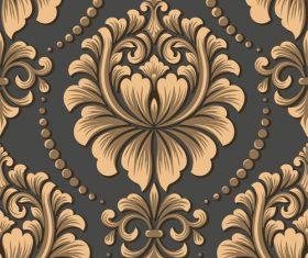 Vector damask seamless pattern element 07