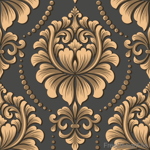 Vector damask seamless pattern element 07