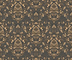 Vector damask seamless pattern element 08