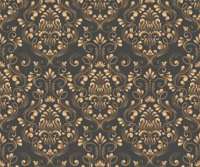 Vector damask seamless pattern element 09