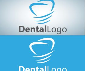 Vector dental logos creative design 02