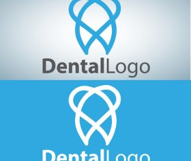 Vector dental logos creative design 03