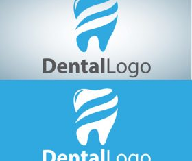 Vector dental logos creative design 06