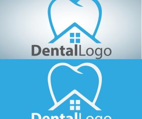Vector dental logos creative design 07