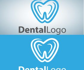 Vector dental logos creative design 09