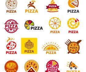 Vector logos pizza set