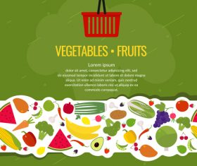 Vegetable with fruits background vector design
