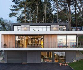 Villas with distinctive features Stock Photo