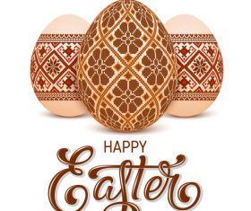 Vintage easter egg vector design