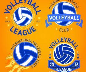 Volleyball logos vector set
