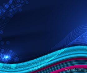 Wavy line blue background art vector