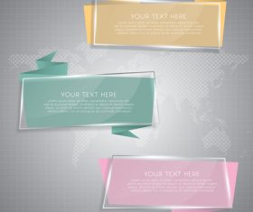 Web glass banners vector material 01