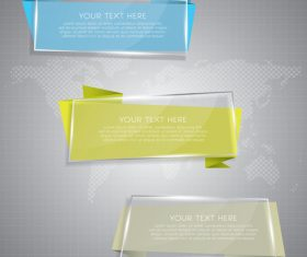 Web glass banners vector material 02