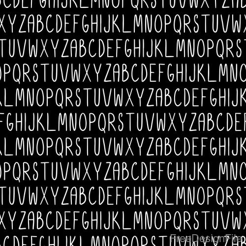 White alphabet seamless pattern vector