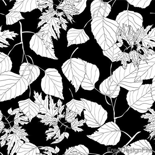 White autumn leaves seamless pattern vector