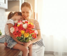 Womens Day flowers for mom Stock Photo