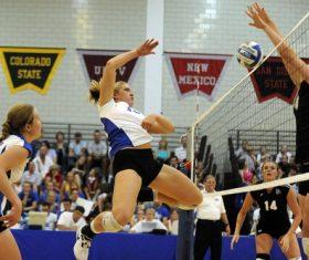 Womens volleyball match Stock Photo 02