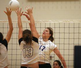 Womens volleyball match Stock Photo 03