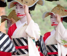 Young Japanese girl wearing kimono Stock Photo 02