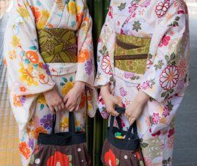 Young Japanese girl wearing kimono Stock Photo 06