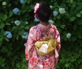 Young Japanese girl wearing kimono Stock Photo 07