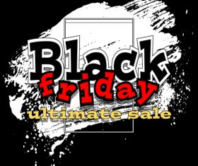 big black friday sale with brush background vector 02