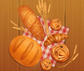 bread bakery creative design vector