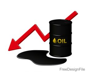 decrease in oil sign design vector