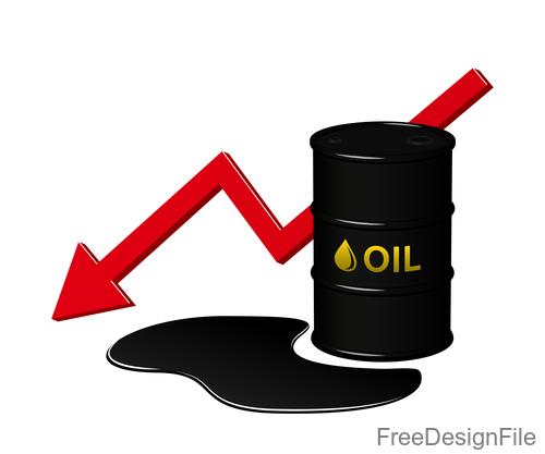 decrease in oil sign design vector