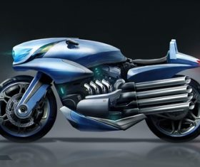 futurisic motorcycle vehicle Stock Photo