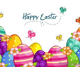 happy easter design with butterfly vector