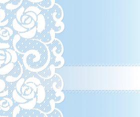 lace wedding blue vector 02