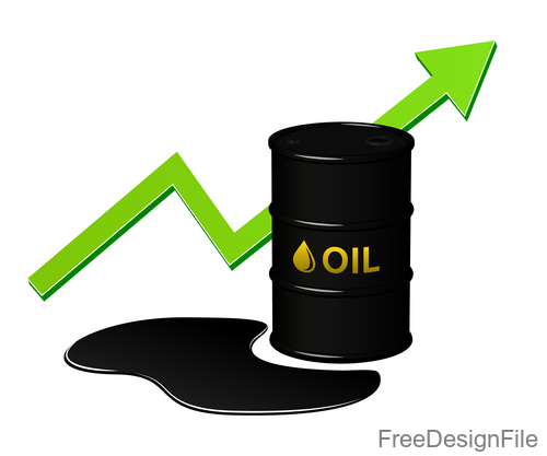 oil growth sign design vector