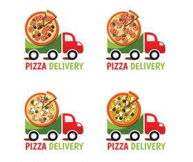 pizza delivery logo vector design