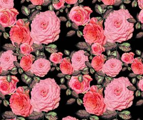 rose seamless pattern vintage vector 02