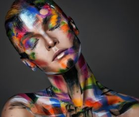 simple background body paint Stock Photo
