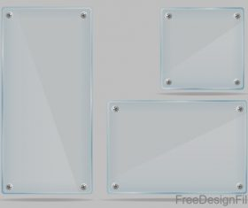 transparent glass plate vector material 01