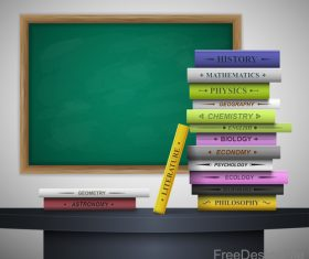 various genres book and classroom vector