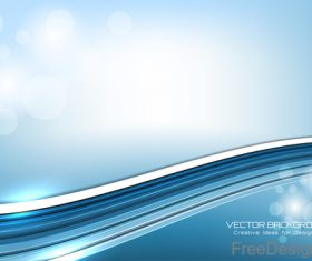 wavy bokeh background vector design