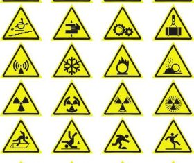 20 Kind Warning Sign Vector